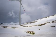 Eolienne au col du Gotthard
