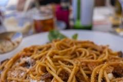 Plat de spaghettis Sicilien à Lugano