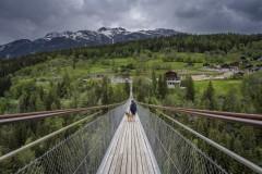 Pont suspendu à Bellwald